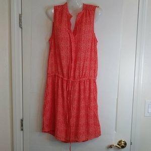 Hilary Radley Orange Drawstring Sleeveless dress